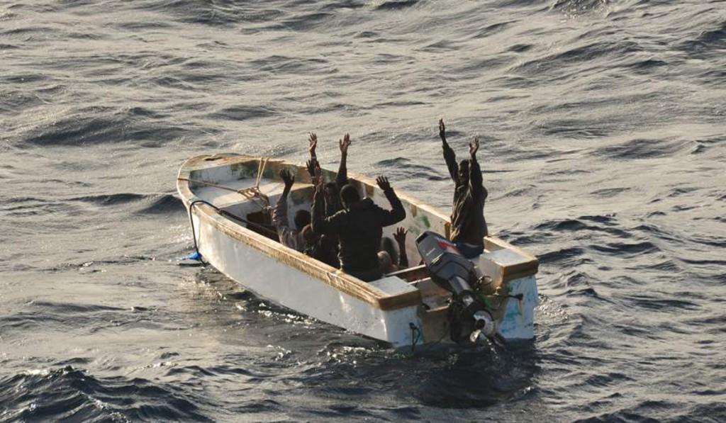Suspected pirates Surrender