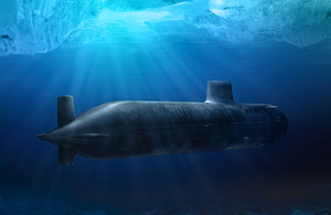 Computer generated image of the new Astute Class Submarine, due to enter service in 2007.